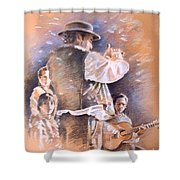 Flamenco Group Shower Curtain
