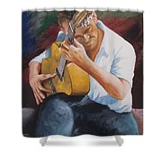 Flamenco Guitar Shower Curtain