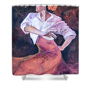 Flamenco In Red Shower Curtain