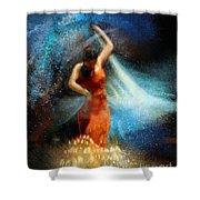 Flamencoscape 05 Shower Curtain