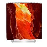 Flames At Upper Antelope Shower Curtain