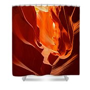 Flames In The Walls Of Antelope Shower Curtain