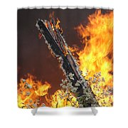Flames Of Age Shower Curtain