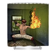 Flames Of Desire Shower Curtain