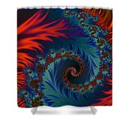 Fractal Flames Shower Curtain