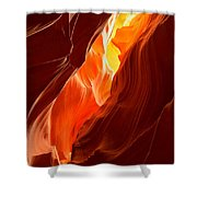 Flames Under Arizona  Shower Curtain