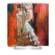 Flamigo Dancing Shower Curtain
