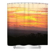 Flaming Autumn Sunrise Shower Curtain