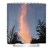 Flaming Clouds Shower Curtain