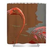 Flaming Flamingo-d  Shower Curtain