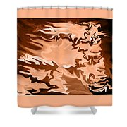 Flaming Horse   -023 Shower Curtain