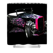 Flaming Hot Roadster  Shower Curtain