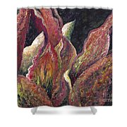 Flaming Leaves Shower Curtain