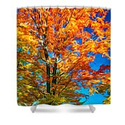 Flaming Maple - Paint Shower Curtain