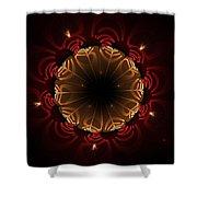 Flaming Night Flower Shower Curtain