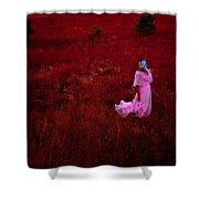 Flaming Pink Shower Curtain