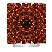 Flaming Ribbons And Trumpets Shower Curtain