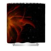 Flaming Sun  Shower Curtain
