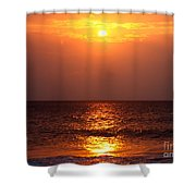 Flaming Sunrise Shower Curtain