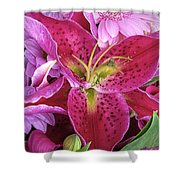 Flaming Tiger Lily Shower Curtain