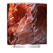 Flaming Walls Of Sandstone Shower Curtain