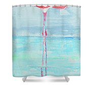 Flamingo 2  Shower Curtain