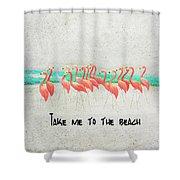 Flamingo Art II Shower Curtain