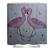 Flamingo Dance Shower Curtain by Ginny Youngblood