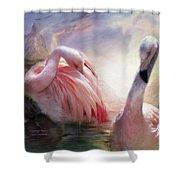 Flamingo Dawn Shower Curtain