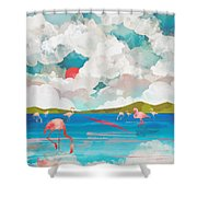 Flamingo Dream Shower Curtain