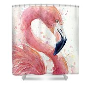 Flamingo - Facing Right Shower Curtain