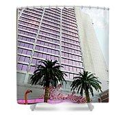 Flamingo Hotel Neon Sign Las Vegas Shower Curtain