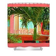 Flamingo Plaza Shower Curtain
