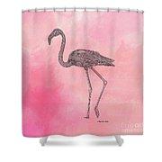 Flamingo3 Shower Curtain