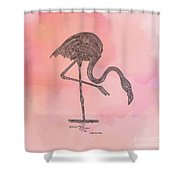 Flamingo4 Shower Curtain