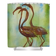 Flamingos In Vail Shower Curtain