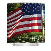 Flanders Field Installation  2 Crosses Poppies Casa Grande Arizona 2004 Shower Curtain