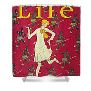 Flapper Cover, 1926 Shower Curtain