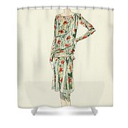 Flapper In An Afternoon Dress Shower Curtain