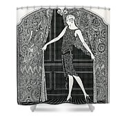 Flapper Opening A Curtain Shower Curtain