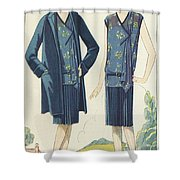 Flappers In Frocks And Coats, 1928  Shower Curtain