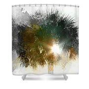 Flared Textured Palm Shower Curtain