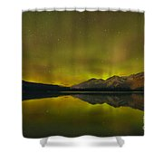 Flaring Northern Lights Shower Curtain