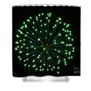 Flash Of Green Shower Curtain