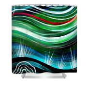 Flashes In Memory. Spring Shower Curtain