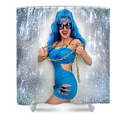 Flashing. Dance With Gold Chain Shower Curtain
