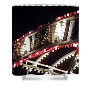 Flashing Lights Shower Curtain