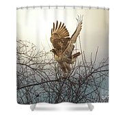 Flashing The Truckers Shower Curtain by Robert Frederick