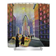 Flat Iron Building New York Shower Curtain