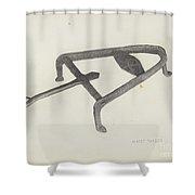 Flat Iron Holder Shower Curtain